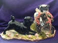 Eve Pearce Hand-Made Model - Pugs on a Log * SALE *